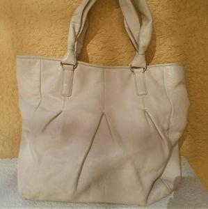 COLE  HAAN Large White Bag Satchel Tote Handbag